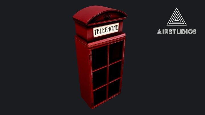 English Phone Booth - Key Holder Box 3D Model