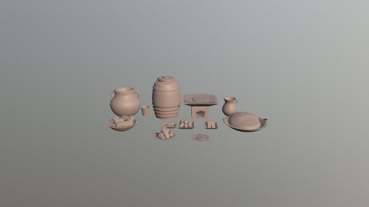 Comida mexicana 3D Model