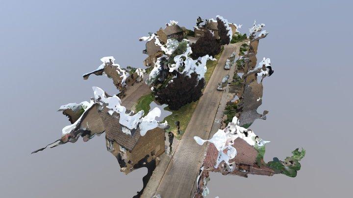 Corridor Simplified 3d Mesh 3D Model