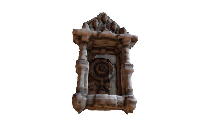 Ashapura Temple Relief 3D Model
