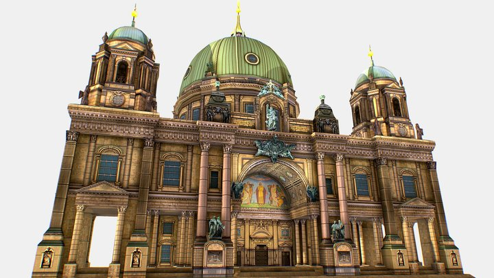 Berlin Cathedral , German Berliner Dom  3d model 3D Model