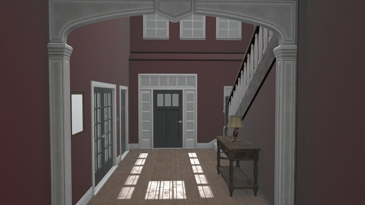 High-Poly Foyer 3D Model