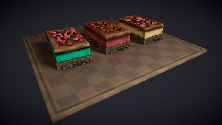 Nanaimo Bars 3D Model