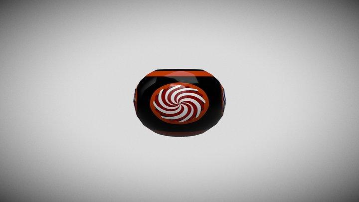 Rosette Bead - Sarawakian Beads 3D Model