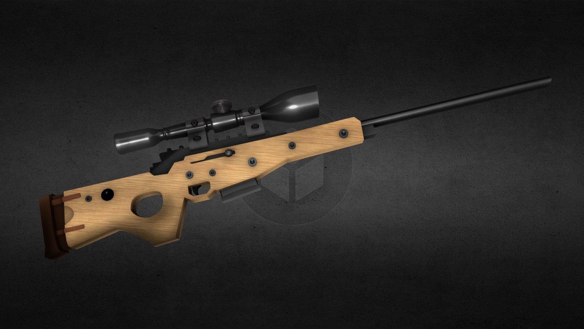 Fortnite Bolt Action Rifle Download Free 3d Model By Vincentj Vincentj Ab69ca7 Sketchfab
