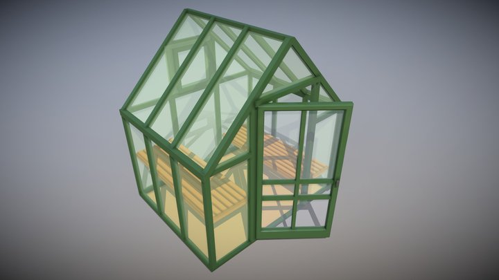 Simple Greenhouse 3D Model