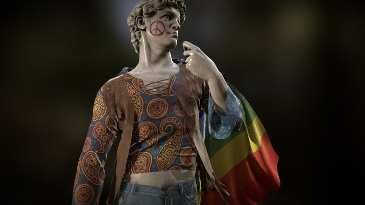 Hippie David - #ApparelCreationContest 3D Model