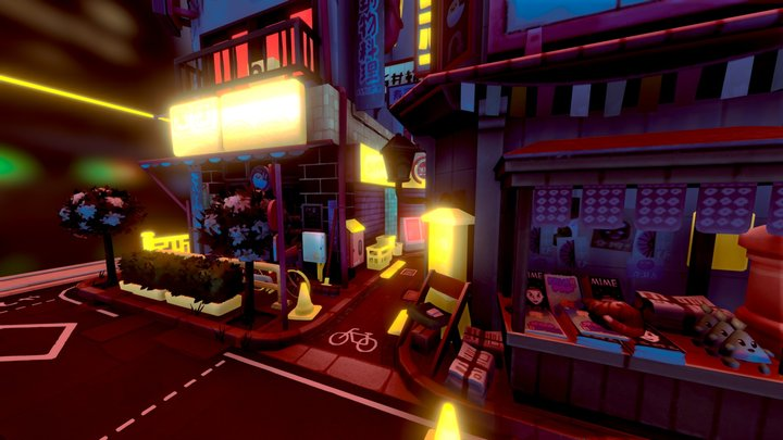 Nighttime in Littlest Tokyo- 3D Editor Challenge 3D Model