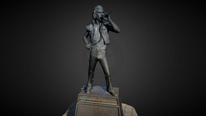 Statue of Bon Scott 3D Model