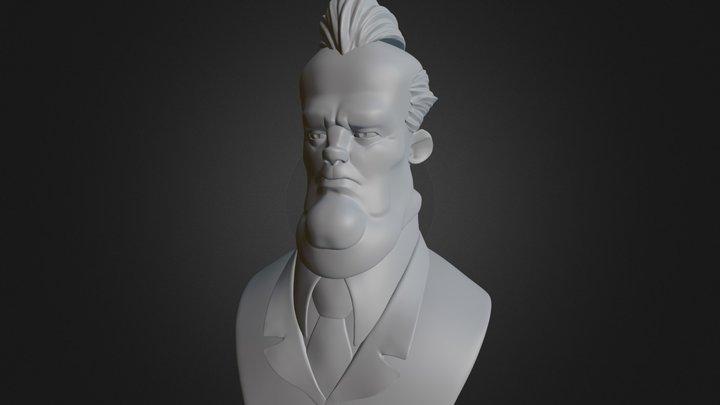 Cartoon sketch 3D Model
