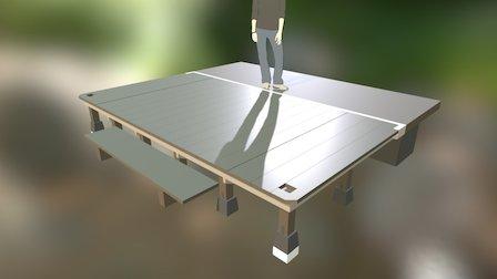 wood deck 161118 3D Model