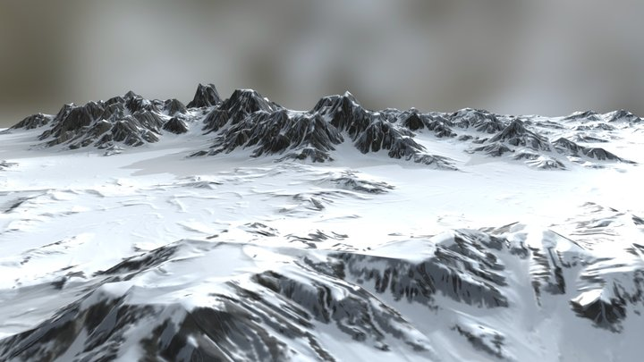 Terrain alpine 3D Model