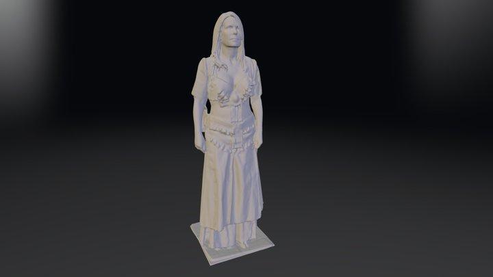 Tribal Gypsy Dancer 3D Model