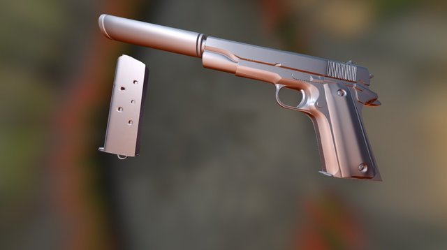 Blender Market Colt 1911 Norwegian Version 001 3D Model