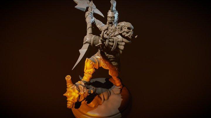 Barbarian - Miniature figure 3D Model