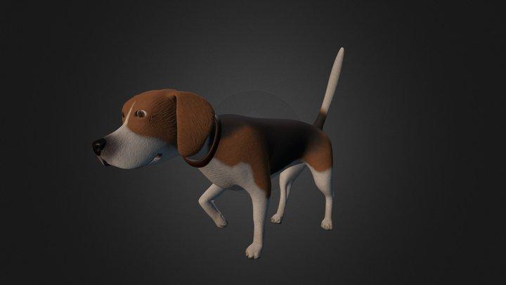 Beagle Young 3D Model