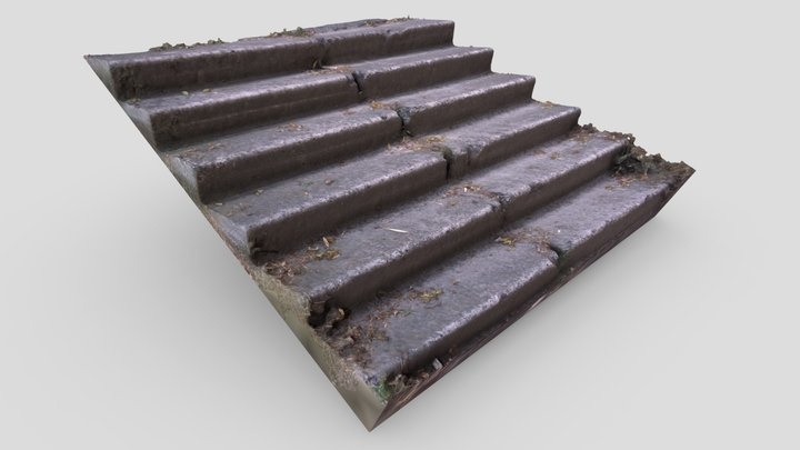 Old Stairs 3D Model
