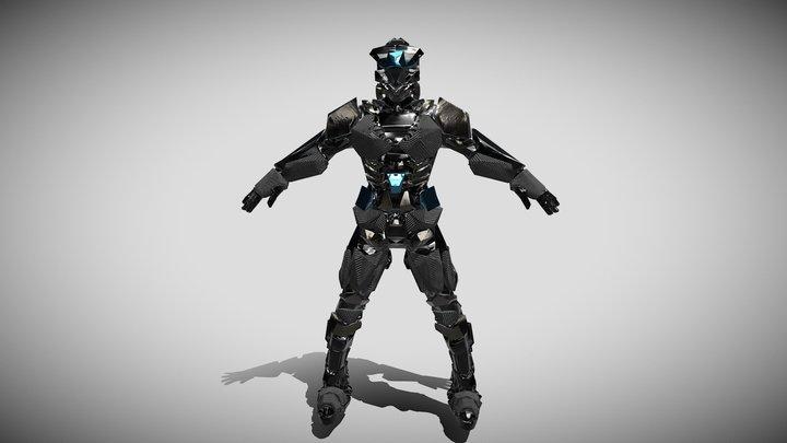 Cyber Sci Man 3D Model