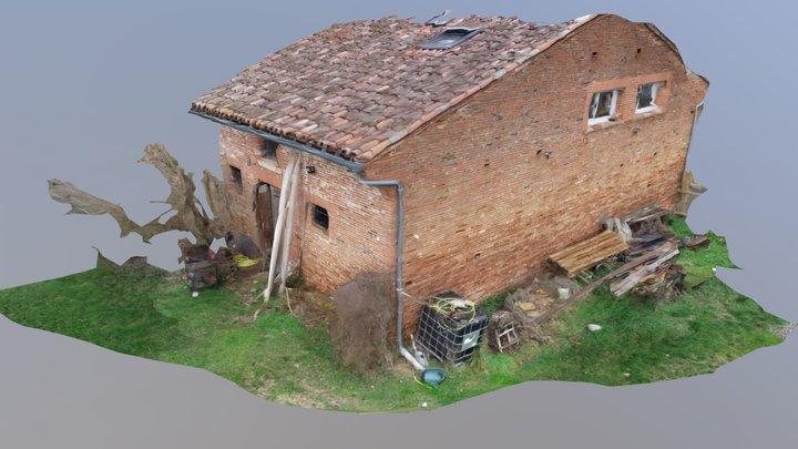 Longère Détaillée Vers Toulouse-Drone 3D Mapping 3D Model