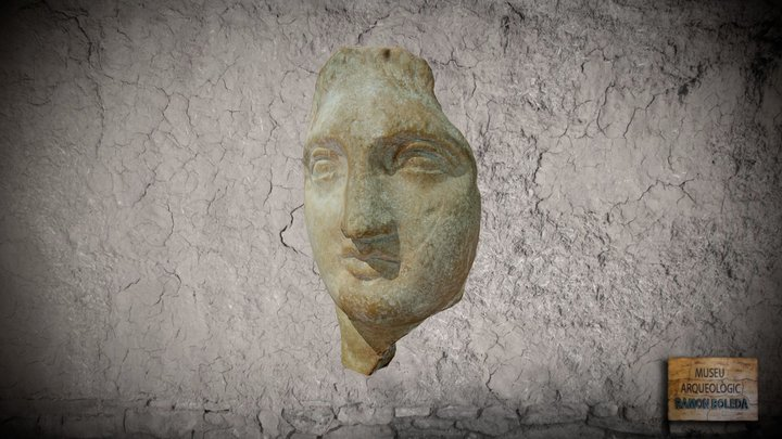 Rostre d'una estatueta de terracota 3D Model