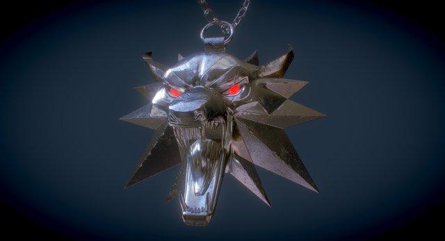 Witcher Medalion 3D Model