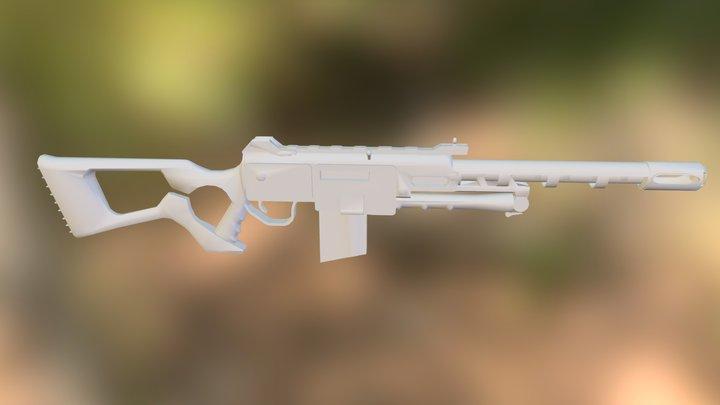 308 assault rifle.obj 3D Model