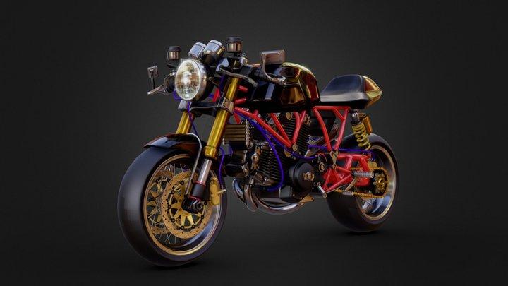 DUCATI Sport 1000s 3D Model