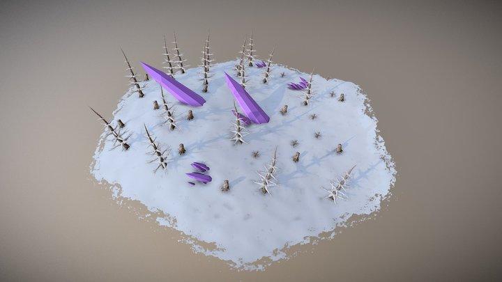 Hexagon Tile - Snowy Flats 3D Model