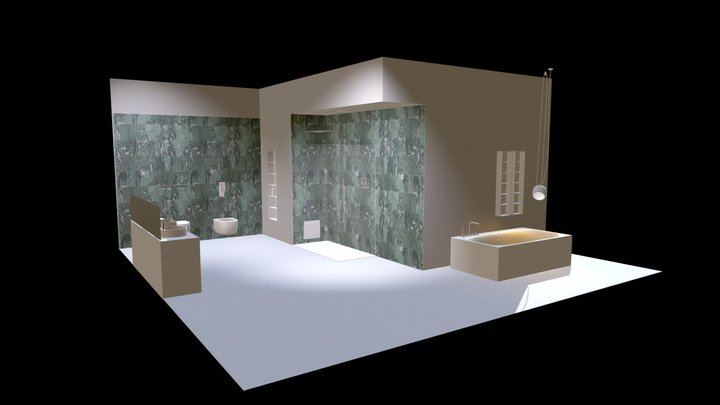 Bagno _ Pietra Smeralda Levigata 3D Model