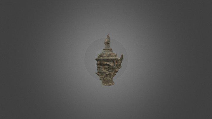 Acient bronze statue - Sout East Asia 3D Model
