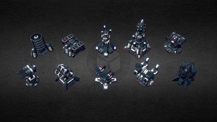 Tower Defense Construction Kit. Mobile Friendly. 3D Model