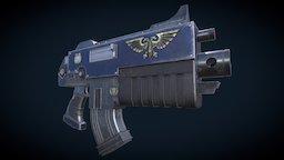 Warhammer 40k Bolter (Boltgun) 3D Model