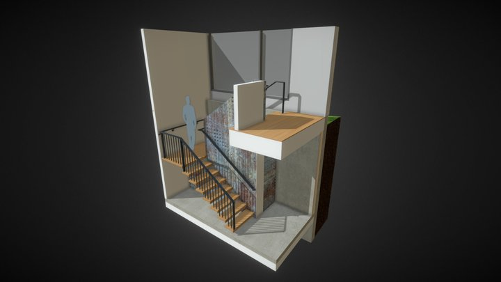 Stairs01 3D Model