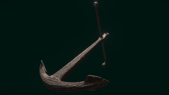 Old rusted anchor 3D Model