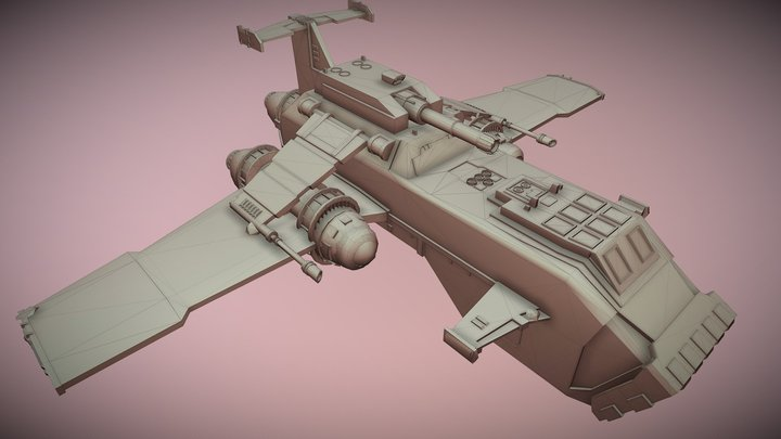 Thunderhawk 3D Model