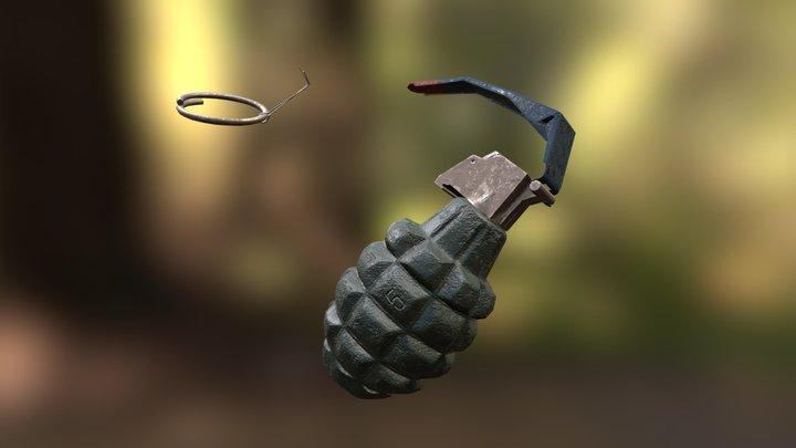 """MK 2 Grenade """"Pineapple"""" 3D Model"""