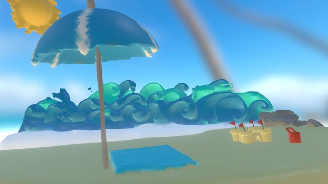 Beach Diorama (edited) 3D Model