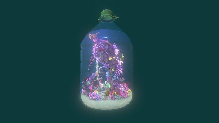 Ocean in a Bottle. 3D Model