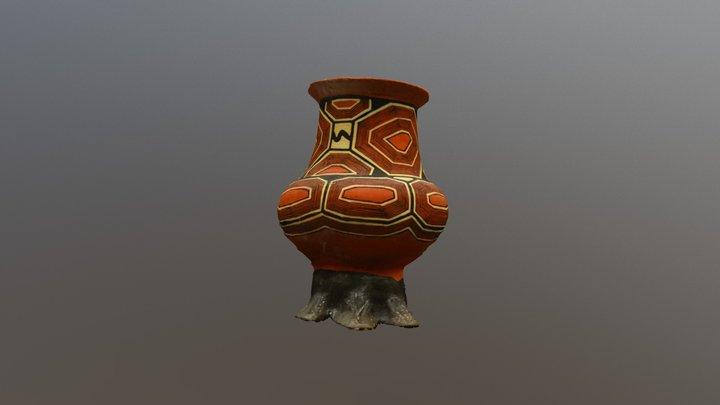 Canelos Quichua Ceramic, Tapir Foot 3D Model