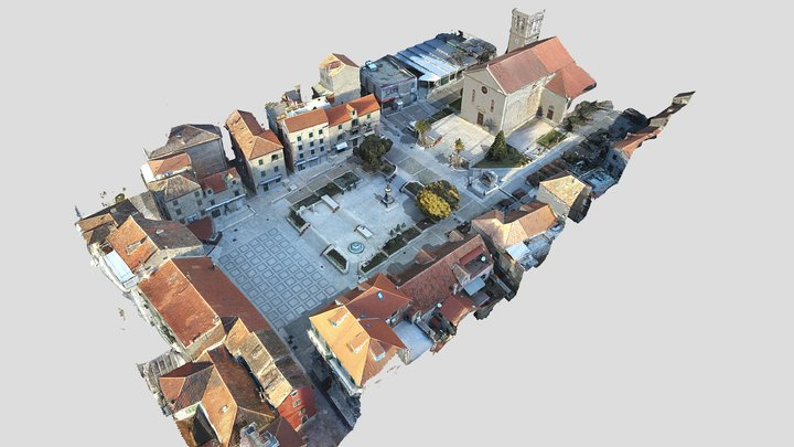 Trg Fra Andrije Kačića Miošića 3D Model