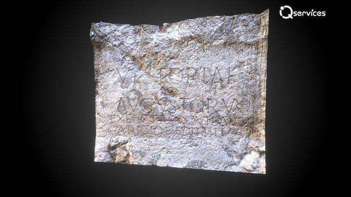Rímsky nápis v Trenčíne 3D Model