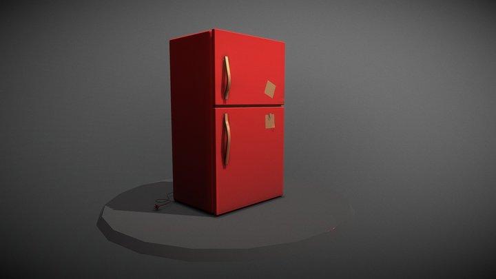 stylized refrigerator 3D Model