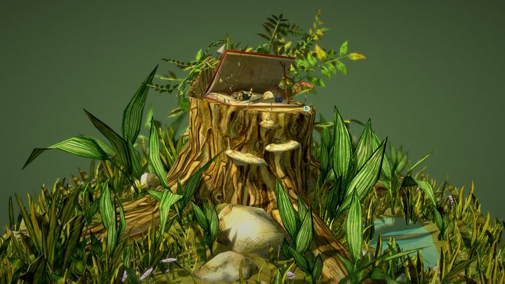 Life in the Forest 3D Model
