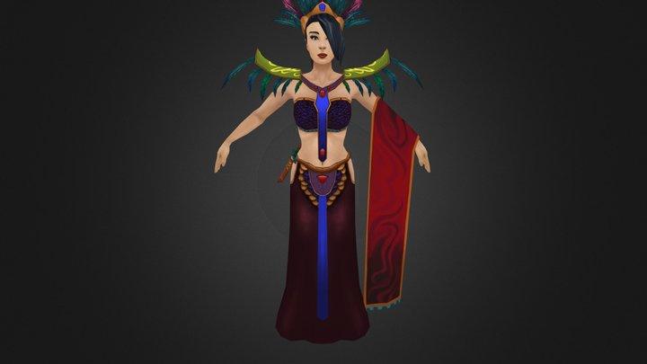 Female Duo Character 3D Model