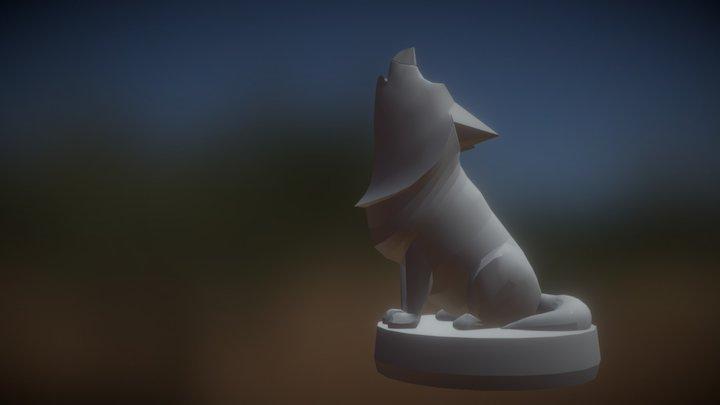 Untextured Finnish Lapphound Amiibo. 3D Model