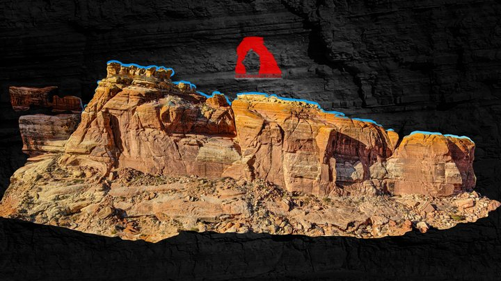 Courthouse Rock 3D Model