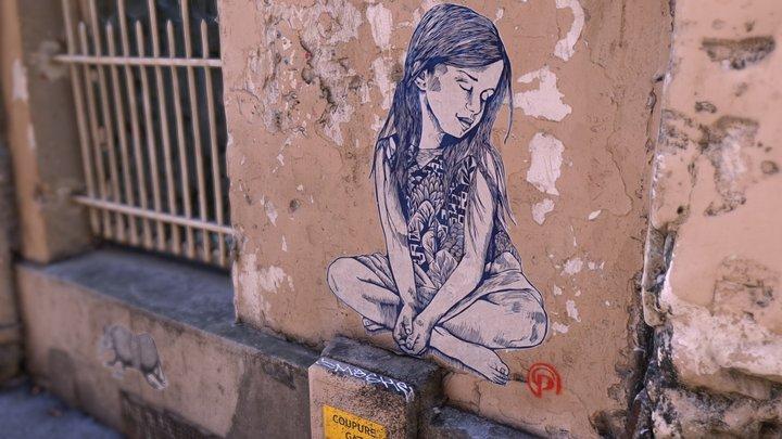 Street art - Montmartre, Paris 3D Model