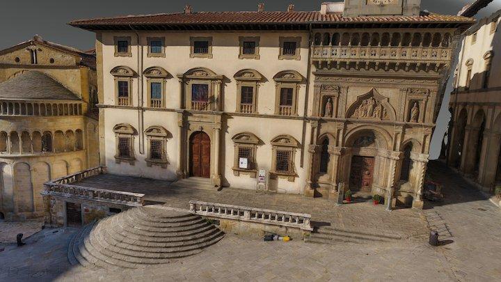 Piazza Grande Arezzo 3D Model