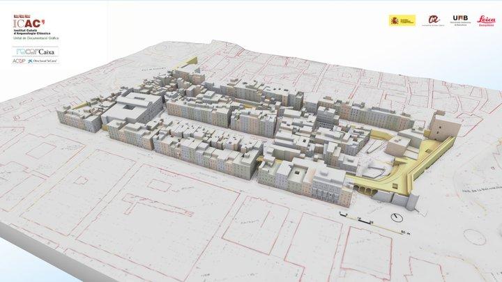 Roman Circus of Tarragona 1/3. Modern city 3D Model
