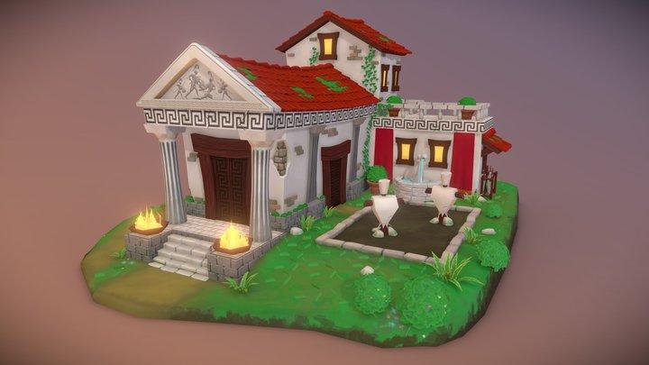 DAE Villages - Greek Training Building 3D Model